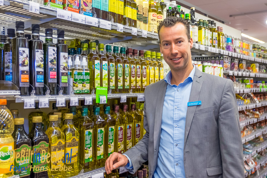 """""""Op basis van de totale opbrengst die dag, doneert Albert Heijn De Bilt nog eens 10% extra in producten voor de Voedselbank,"""" vertelt filiaalmanager Jan-Mark Dorland."""