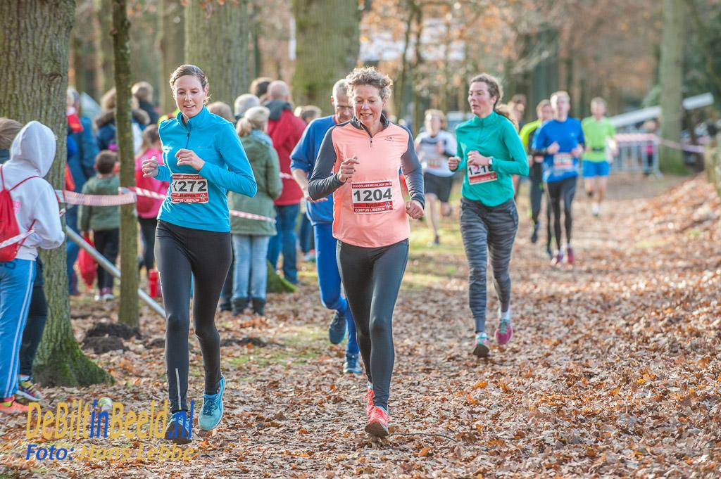De tien kilometer deelnemers mochten nog een rondje
