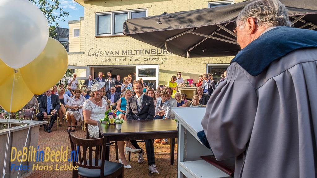 Eerste Huwelijk bij Cafe van Miltenburg Bilthoven van Jan Willem van Miltenburg en Janneke Bavelaar.