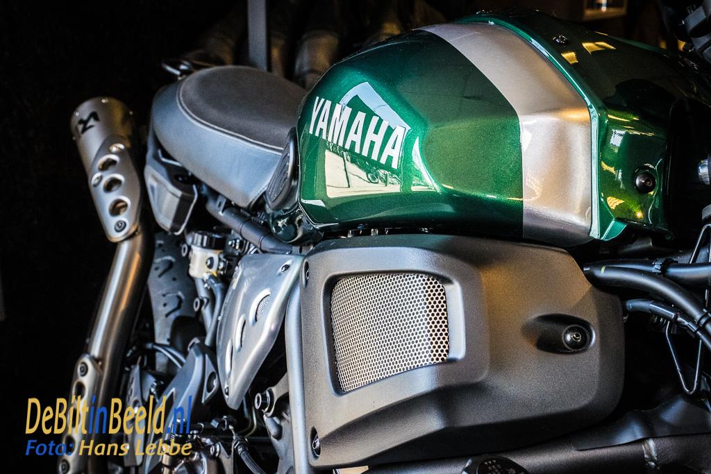 In het groen van de beroemde Yamaha XR-650 uit de jaren '70