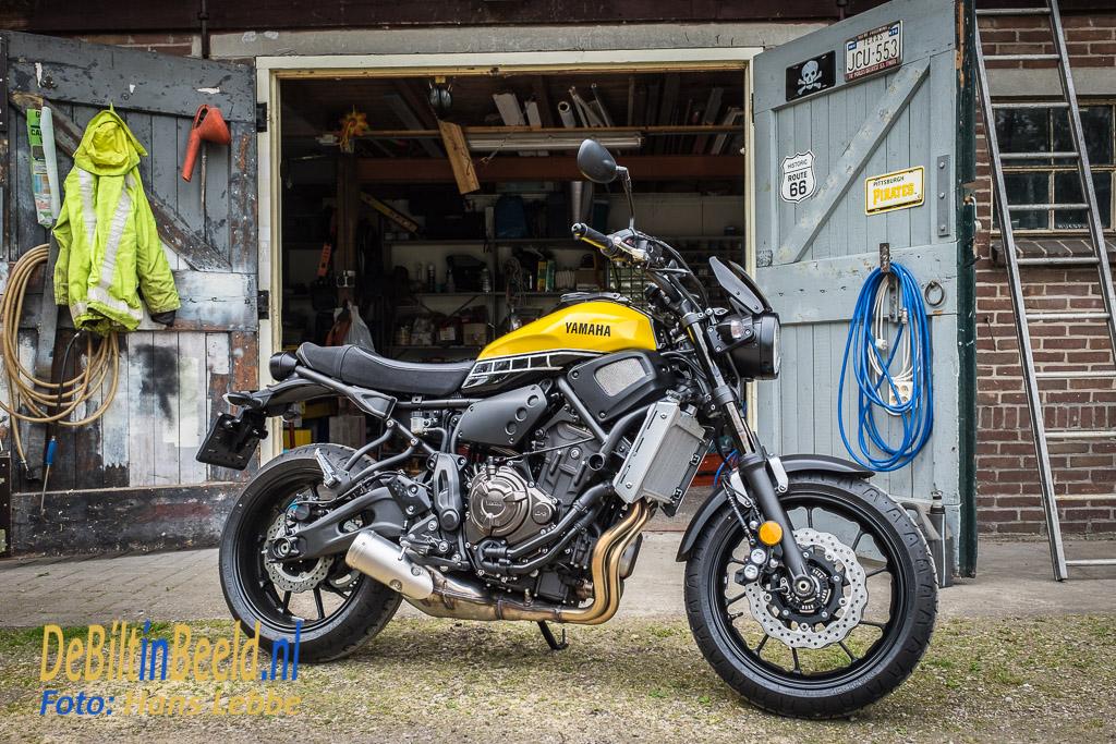 Yamaha XSR700 in 'Kenny Roberts' striping; 60th Anniversary