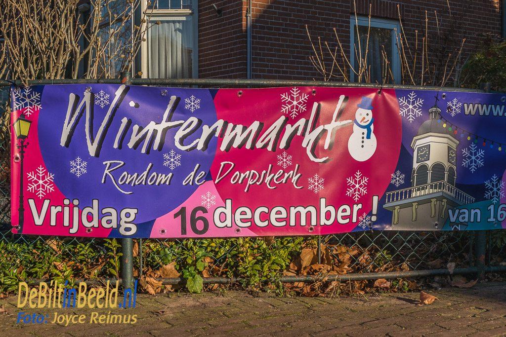 Wintermarkt en andere winterse taferelen rondom de Dorpskerk