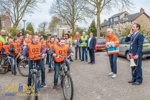 Verkeersexamen met burgemeester Sjoerd Potters