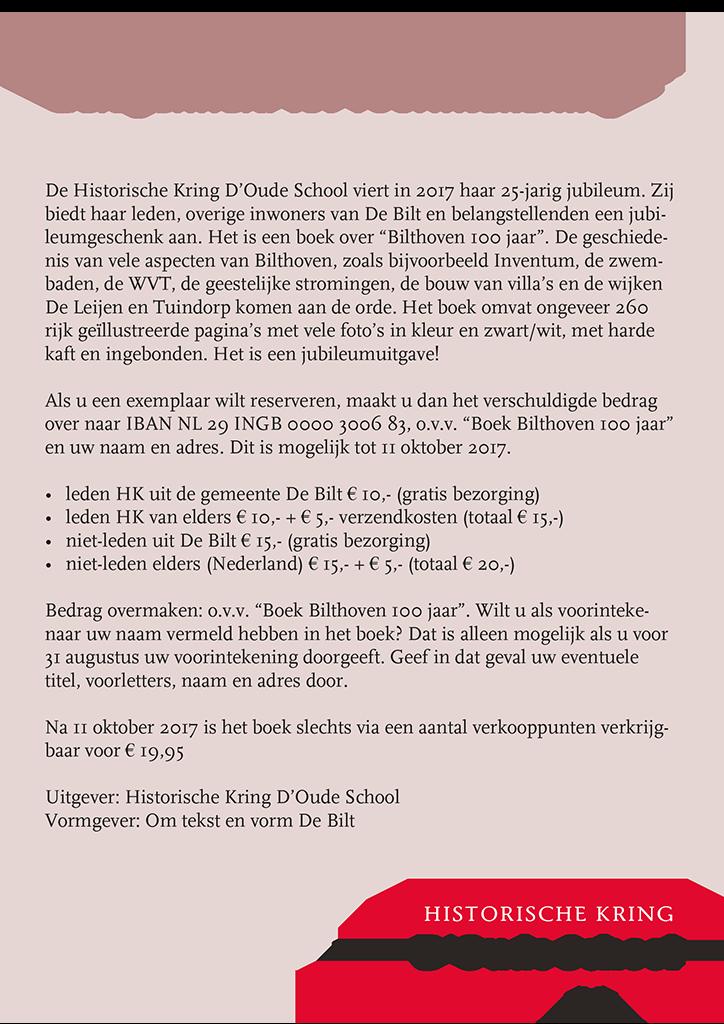 Boek 100 jaar Bilthoven