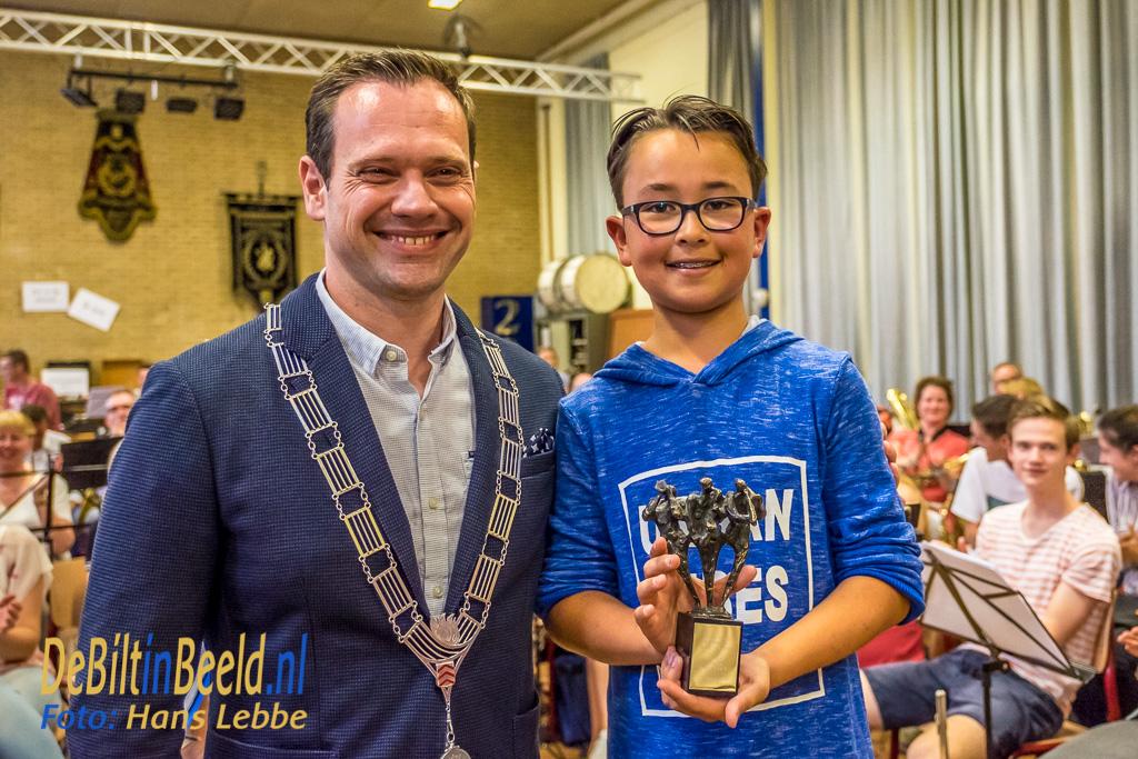 KBH Triooltrofee 2017 met burgemeester Sjoerd Potters De Bilt