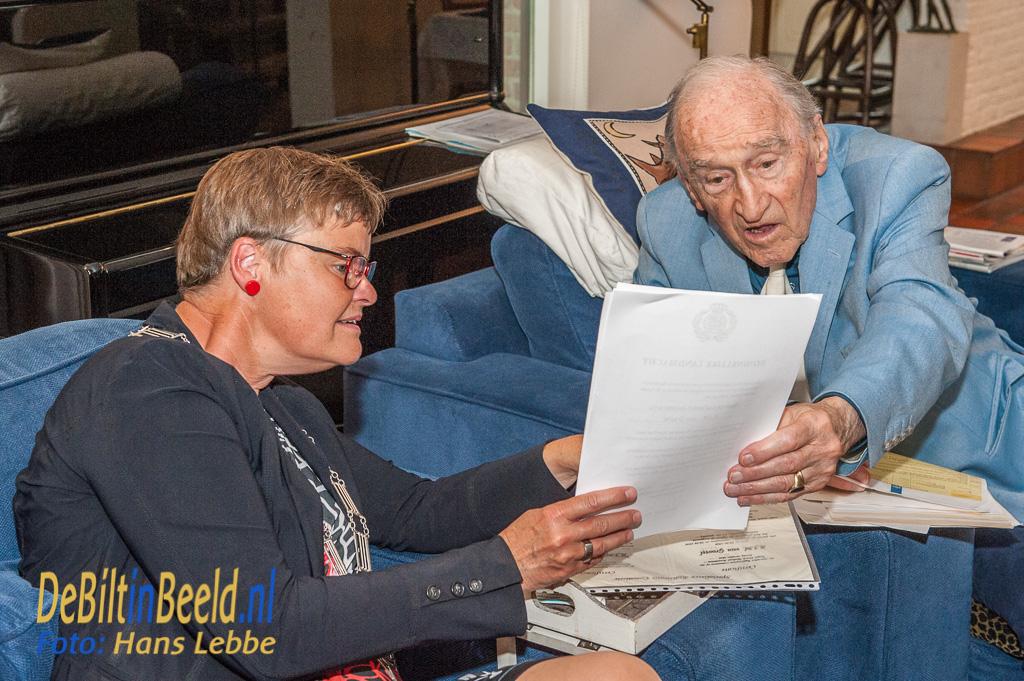 60 Jarig Huwelijk Van Grootel - Brunia Bilthoven Met Loco-burgemeester Anne Brommersma