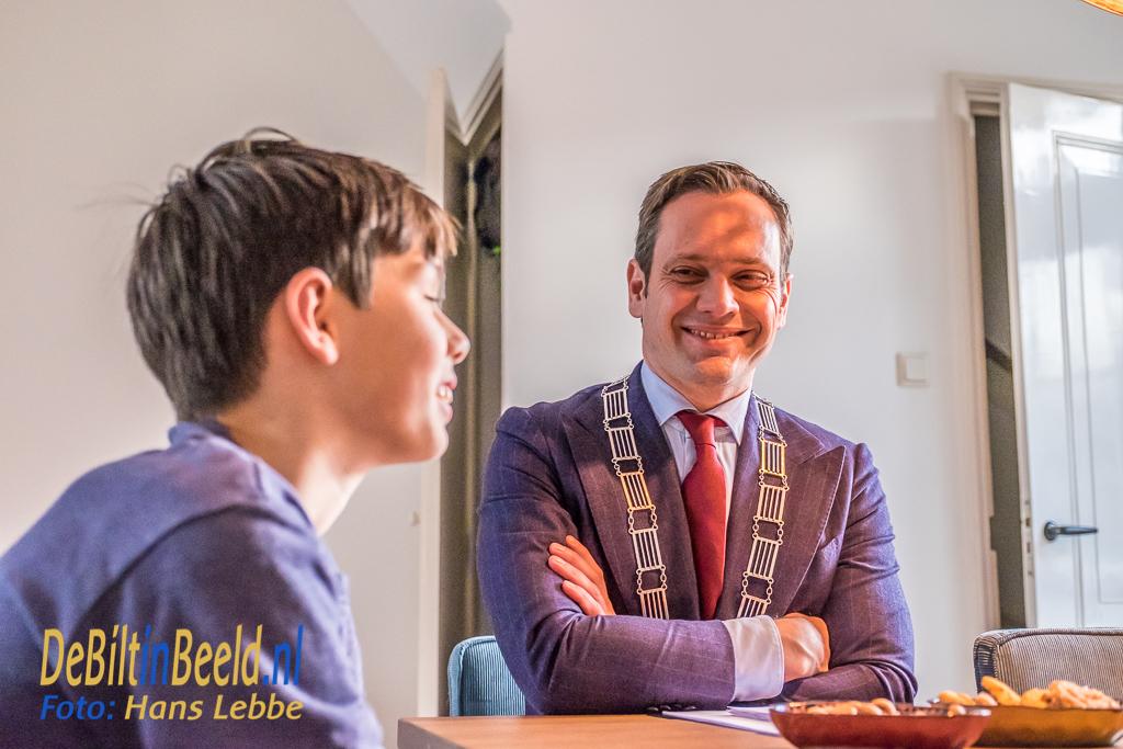 Burgemeester Potters op bezoek bij Ruben Godefroy