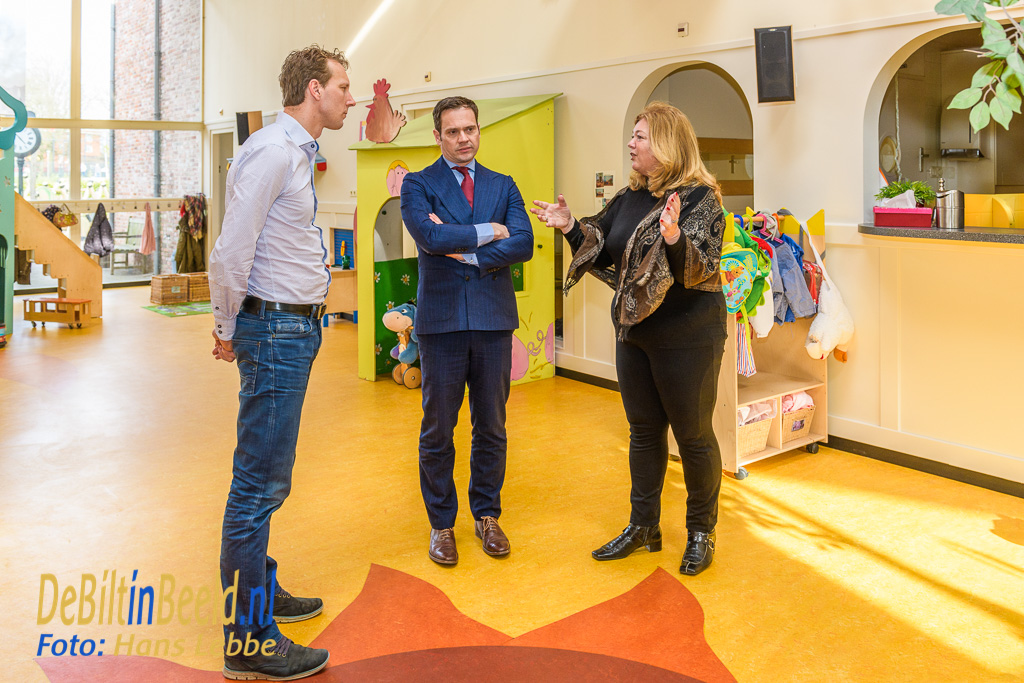 Kinderdagverblijf t-Mereltje Bilthoven bezoek burgemeester Potters