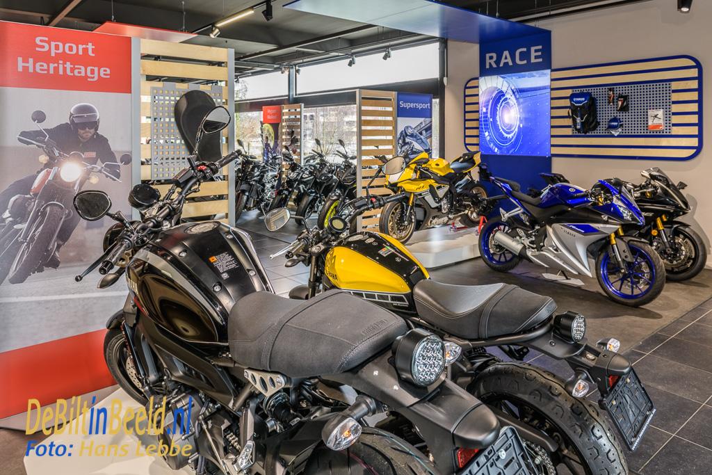 De geheel nieuw showroom van RB Motoren De Bilt