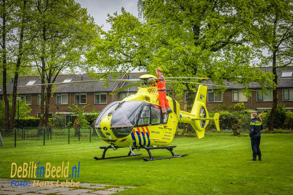Traumahelikopter landt in De Leyen Bilthoven
