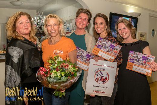 Cheque voor KiKa Kinderopvang t-Mereltje Bilthoven
