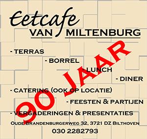 Eetcafe van Miltenburg Bilthoven 90 jaar