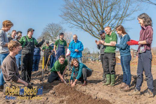 Start aanplant Plukdoolhof De Schaapskooi Reinaerde Bilthoven