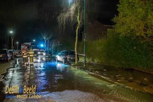 Waterleidingbreuk Tuinstraat De Bilt. Foto: Hans Lebbe / HLP Images